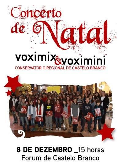 Concerto de Natal no Fórum de Castelo Branco, 8 dez. _15H00.